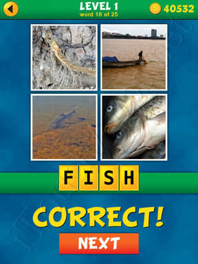 4 Pics 1 Word Puzzle - What's That Word Level 1 Word 16 Solution