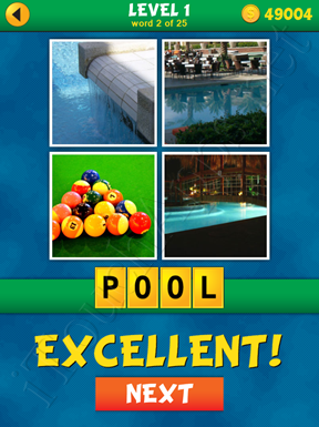 4 Pics 1 Word Puzzle - What's That Word Level 1 Word 2 Solution