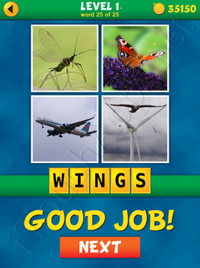 4 Pics 1 Word Puzzle - What's That Word Level 1 Word 25 Solution