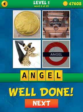 4 Pics 1 Word Puzzle - What's That Word Level 1 Word 4 Solution
