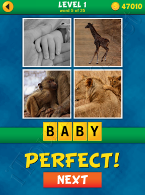 4 Pics 1 Word Puzzle - What's That Word Level 1 Word 5 Solution