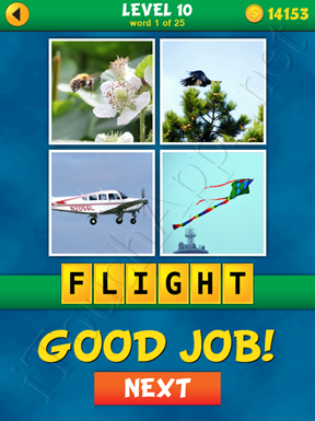 4 Pics 1 Word Puzzle - What's That Word Level 10 Word 1 Solution
