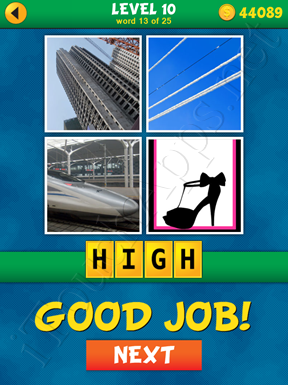 4 Pics 1 Word Puzzle - What's That Word Level 10 Word 13 Solution