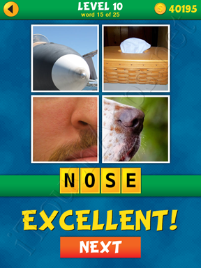 4 Pics 1 Word Puzzle - What's That Word Level 10 Word 15 Solution