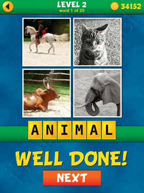 4 Pics 1 Word Puzzle - What's That Word Level 2 Word 1 Solution