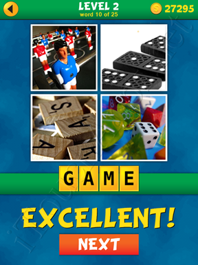 4 Pics 1 Word Puzzle - What's That Word Level 2 Word 10 Solution