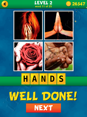 4 Pics 1 Word Puzzle - What's That Word Level 2 Word 11 Solution