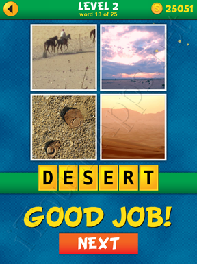 4 Pics 1 Word Puzzle - What's That Word Level 2 Word 13 Solution