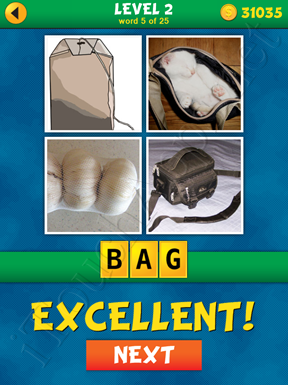 4 Pics 1 Word Puzzle - What's That Word Level 2 Word 5 Solution