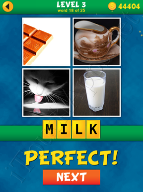 4 Pics 1 Word Puzzle - What's That Word Level 3 Word 18 Solution