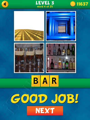 4 Pics 1 Word Puzzle - What's That Word Level 3 Word 4 Solution