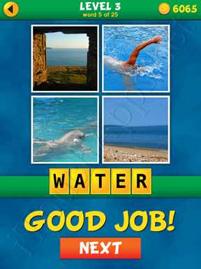4 Pics 1 Word Puzzle - What's That Word Level 3 Word 5 Solution