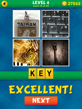 4 Pics 1 Word Puzzle - What's That Word Level 4 Word 10 Solution