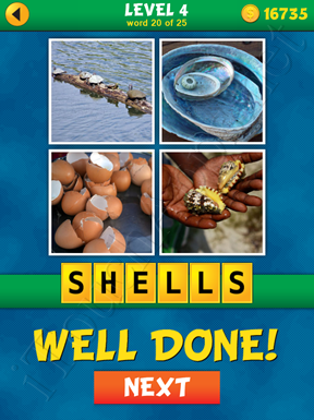 4 Pics 1 Word Puzzle - What's That Word Level 4 Word 20 Solution