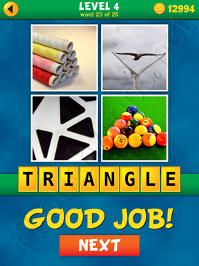 4 Pics 1 Word Puzzle - What's That Word Level 4 Word 23 Solution