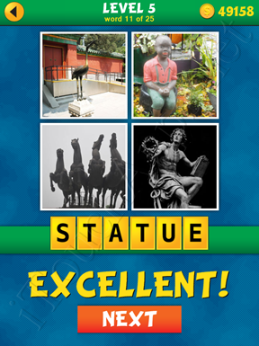 4 Pics 1 Word Puzzle - What's That Word Level 5 Word 11 Solution