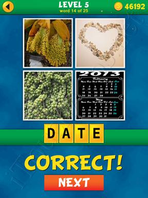 4 Pics 1 Word Puzzle - What's That Word Level 5 Word 14 Solution