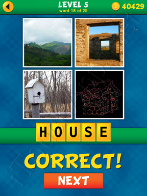 4 Pics 1 Word Puzzle - What's That Word Level 5 Word 18 Solution