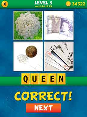 4 Pics 1 Word Puzzle - What's That Word Level 5 Word 24 Solution