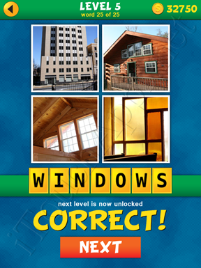 4 Pics 1 Word Puzzle - What's That Word Level 5 Word 25 Solution