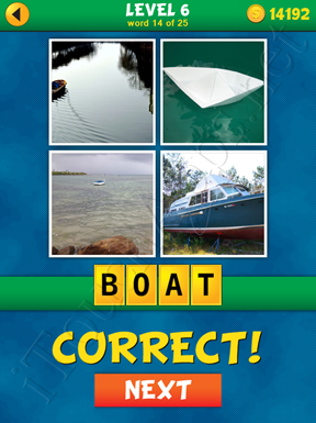 4 Pics 1 Word Puzzle - What's That Word Level 6 Word 14 Solution