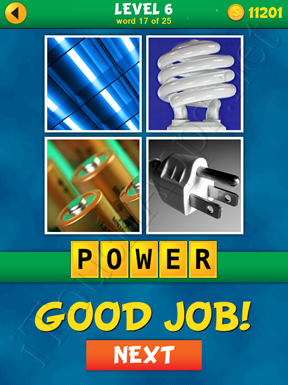 4 Pics 1 Word Puzzle - What's That Word Level 6 Word 17 Solution