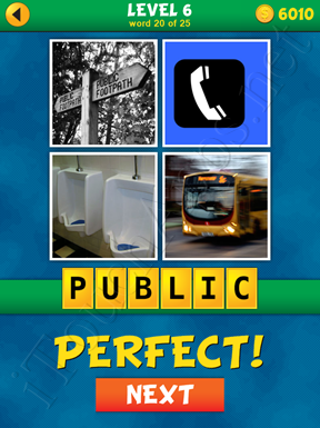 4 Pics 1 Word Puzzle - What's That Word Level 6 Word 20 Solution