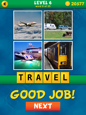 4 Pics 1 Word Puzzle - What's That Word Level 6 Word 9 Solution