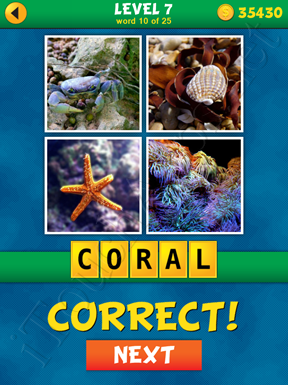 4 Pics 1 Word Puzzle - What's That Word Level 7 Word 10 Solution