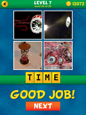4 Pics 1 Word Puzzle - What's That Word Level 7 Word 24 Solution
