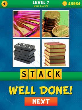 4 Pics 1 Word Puzzle - What's That Word Level 7 Word 3 Solution