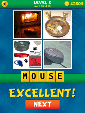 4 Pics 1 Word Puzzle - What's That Word Level 8 Word 10 Solution