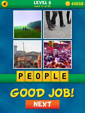 4 Pics 1 Word Puzzle - What's That Word Level 8 Word 11 Solution
