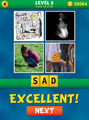 4 Pics 1 Word Puzzle - What's That Word Level 8 Word 13 Solution