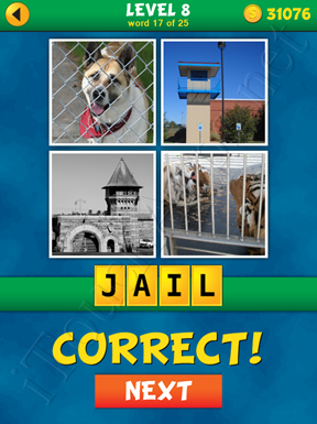 4 Pics 1 Word Puzzle - What's That Word Level 8 Word 17 Solution