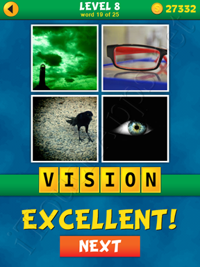 4 Pics 1 Word Puzzle - What's That Word Level 8 Word 19 Solution