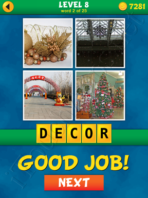 4 Pics 1 Word Puzzle - What's That Word Level 8 Word 2 Solution