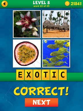 4 Pics 1 Word Puzzle - What's That Word Level 8 Word 22 Solution