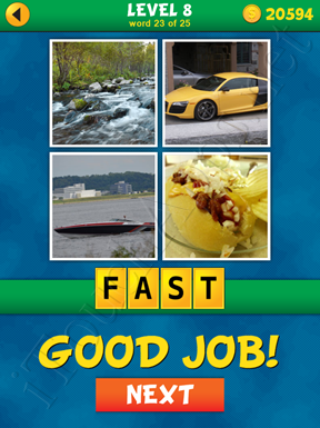 4 Pics 1 Word Puzzle - What's That Word Level 8 Word 23 Solution