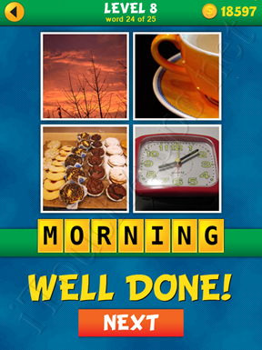 4 Pics 1 Word Puzzle - What's That Word Level 8 Word 24 Solution