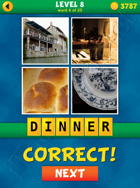 4 Pics 1 Word Puzzle - What's That Word Level 8 Word 4 Solution