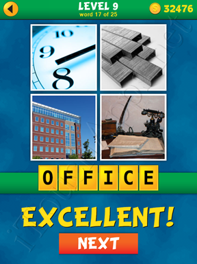 4 Pics 1 Word Puzzle - What's That Word Level 9 Word 17 Solution