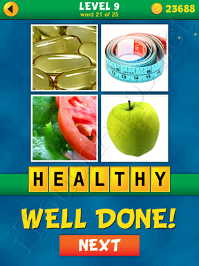 4 Pics 1 Word Puzzle - What's That Word Level 9 Word 21 Solution