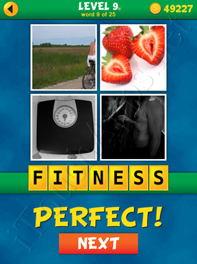 4 Pics 1 Word Puzzle - What's That Word Level 9 Word 9 Solution