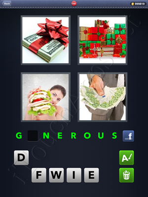 4 Pics 1 Word Level 1101 Solution