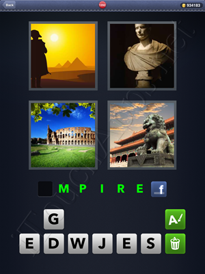 4 Pics 1 Word Level 1292 Solution