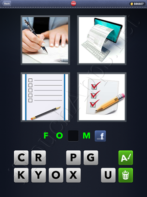 4 Pics 1 Word Level 1458 Solution