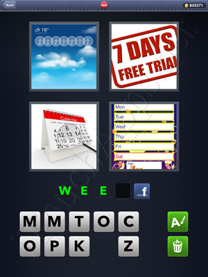 4 Pics 1 Word Level 1609 Solution