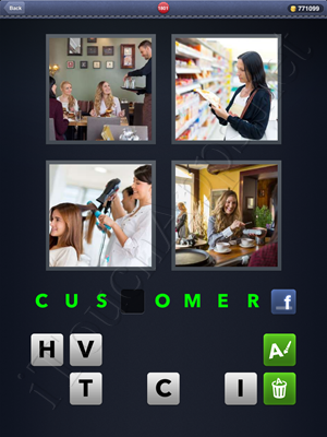 4 Pics 1 Word Level 1801 Solution