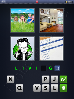 4 Pics 1 Word Level 1847 Solution